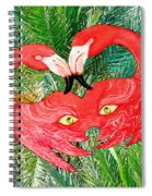 Flamingo Mask 7 Spiral Notebook