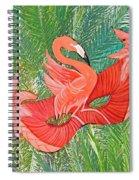 Flamingo Mask 8 Spiral Notebook