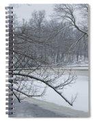 Flat River In Winter No.026 Spiral Notebook