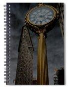 Flatiron Building And Clock Spiral Notebook