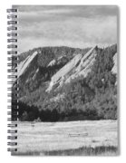 Flatirons Boulder Colorado Black And White Photo Spiral Notebook