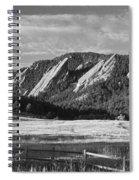 Flatirons From Chautauqua Park Bw Spiral Notebook