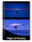 Flight Of Fantasy With Caption Spiral Notebook