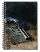 Flint Lock Pistol And Playing Cards Spiral Notebook