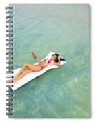 Floating At Sea Spiral Notebook
