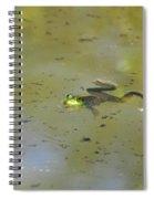 Floating Frog Spiral Notebook