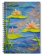 Floating Lilies Spiral Notebook