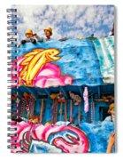 Floating Thru Mardi Gras Spiral Notebook