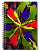 Floral Abstraction 090312 Spiral Notebook