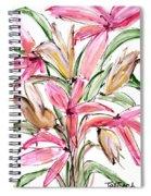 Floral Fourteen Spiral Notebook