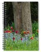 Floral Surrounding Spiral Notebook