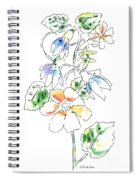 Floral Watercolor Paintings 4 Spiral Notebook