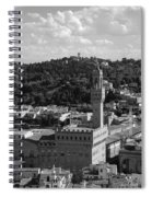 Florence - Black And White Spiral Notebook
