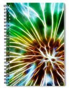 Flower - Dandelion Tears - Abstract Spiral Notebook