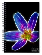Flower - Electric Blue - Abstract Spiral Notebook