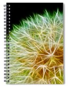 Flower - Forbidden Planet - Abstract Spiral Notebook
