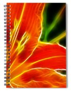Flower - Lily 1 - Abstract Spiral Notebook