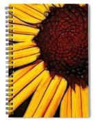 Flower - Yellow And Brown - Abstract Spiral Notebook
