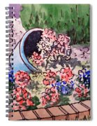 Flower Bed Sketchbook Project Down My Street Spiral Notebook