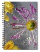 Flower Blossoms Under Ice Spiral Notebook