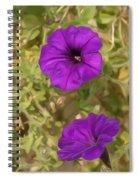 Flower Painting 0006 Spiral Notebook