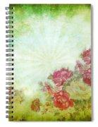 Flower Pattern On Paper Spiral Notebook