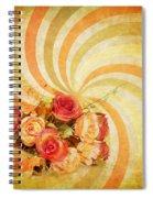 Flower Pattern Retro Style Spiral Notebook
