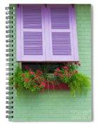 Flower Pot Window Spiral Notebook
