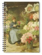 Flower Seller In Front Of The Madeleine Church Spiral Notebook