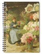 Flower Seller In Front Of The Madeleine Church Spiral Notebook