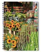 Flower Shop In Amsterdam Spiral Notebook
