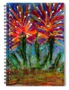 Flower Towers Spiral Notebook