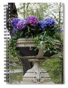 Flowerpot With Hydrangea Spiral Notebook