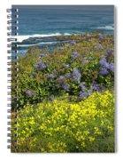 Flowers Along The Shore At La Jolla California No.0203 Spiral Notebook