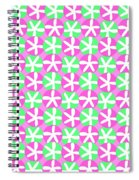 Flowers And Spots  Spiral Notebook