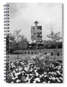 Flowers At Citi Field In Black And White Spiral Notebook