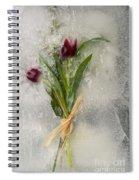 Flowers Frozen In Ice Spiral Notebook