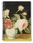 Flowers In A Delft Jar  Spiral Notebook
