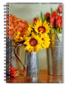 Flowers In Cans Spiral Notebook