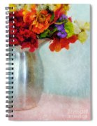 Flowers In Metal Pitcher Spiral Notebook