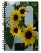 Flowers On A Fence Spiral Notebook