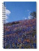 Flowers On A Hill Spiral Notebook