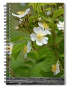 Flowers On The Fence Spiral Notebook