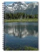 Flowers On The Lake Spiral Notebook