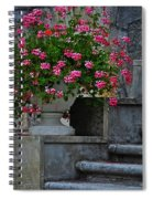 Flowers On The Steps Spiral Notebook