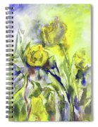Flowery Abstraction Spiral Notebook
