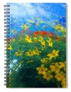 Flowery Sky Spiral Notebook