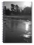 Flowing Water At Sunrise Spiral Notebook