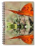 Fluttering Reflections - Butterfly Spiral Notebook