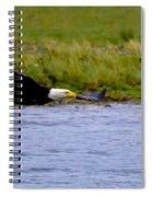 Flying Bald Eagle Spiral Notebook